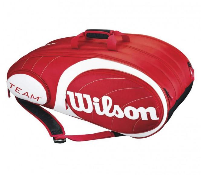 Team 12er Tennistasche (rot/wei