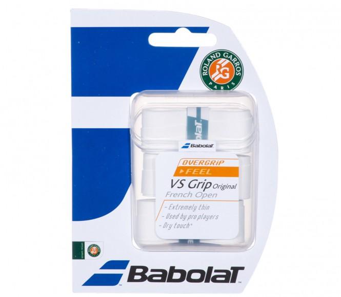 Balles de tennis accessoires - BABOLAT VS GRIP ORIGINAL ROLAND GARROS LOT DE 3  BLANC