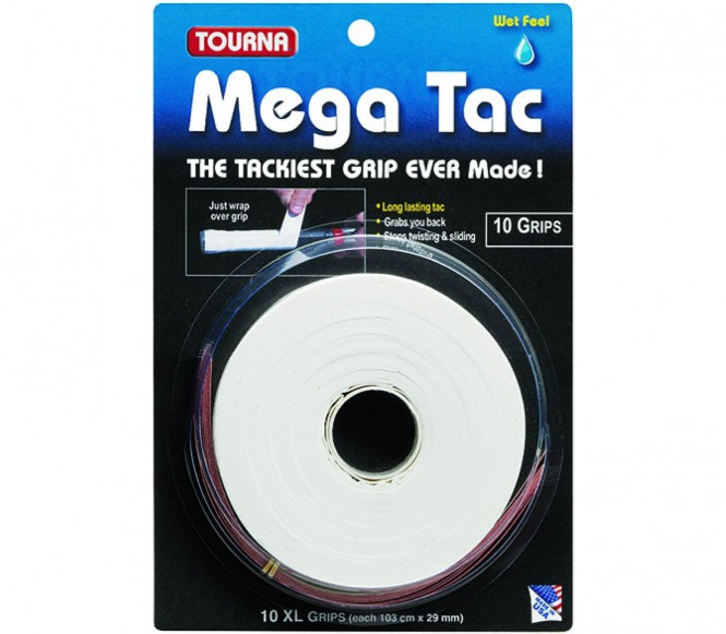 Unique - Tourna Mega Tac 10er Pack (weiß)