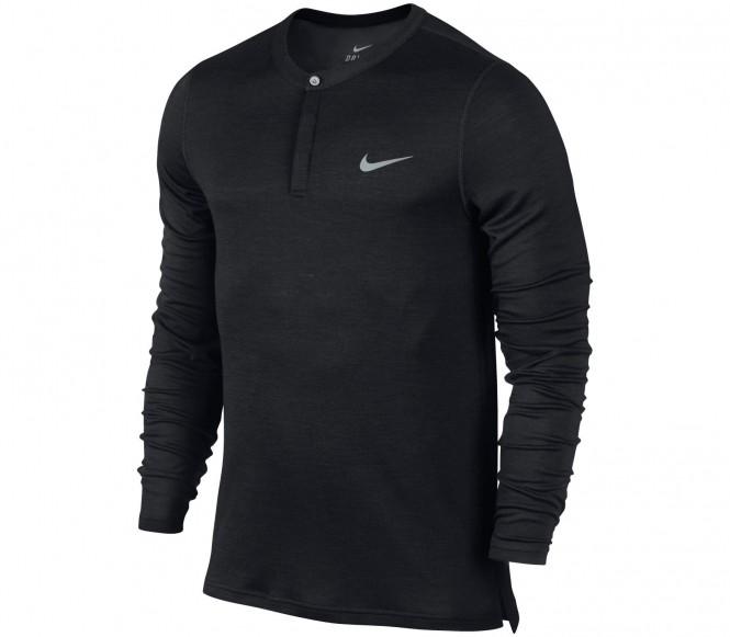 Nike Longsleeve Wool Henley Herr Tennis T-shirt (svart) S