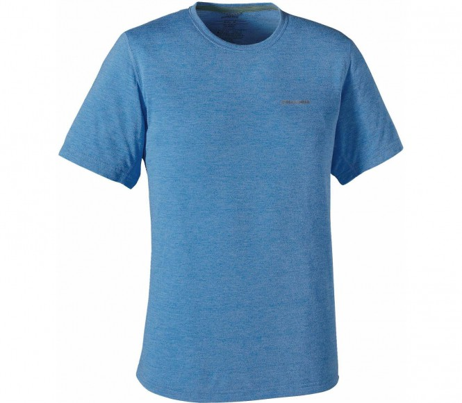 <strong>Patagonia</strong> nine trails shortsleeve t shirt fonctionnel pour hommes bleu s 30