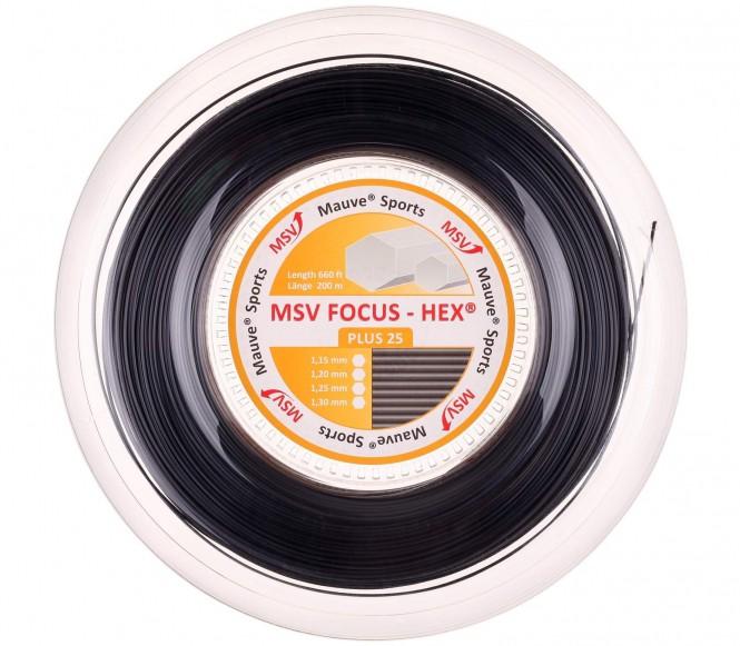 cordages de tennis - MSV FOCUS HEX PLUS 25  200M  1,25MM  NOIR