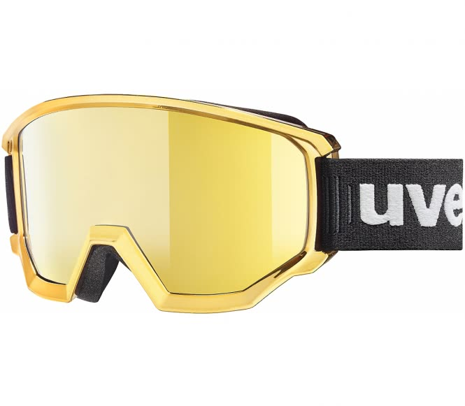 Uvex - Athletic Fm Skibrille (schwarz/gold)