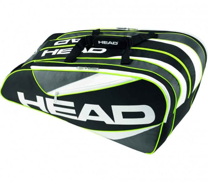 Elite 12 R Combi Tennistasche (schwarz/hellgrün)