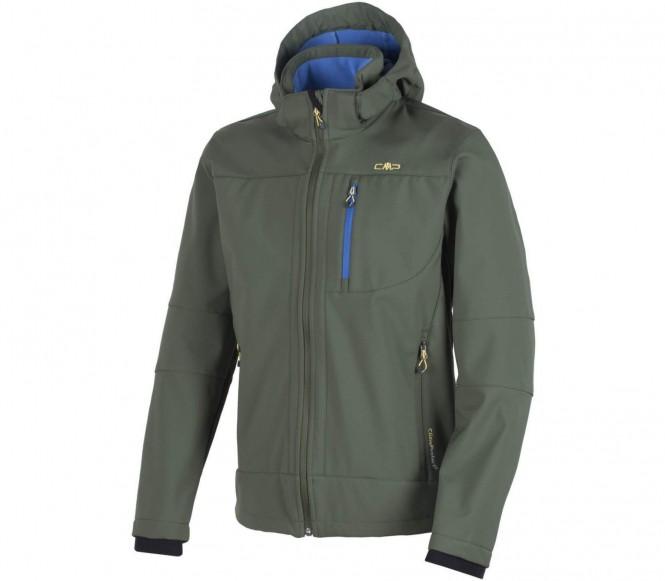 Cmp zip hood veste soft shell pour hommes vert foncé s 46