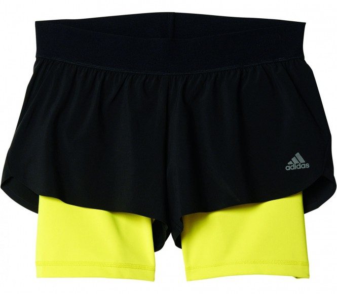 Adidas Gym 2in1 Dames Trainings korte broek (zwart) XS