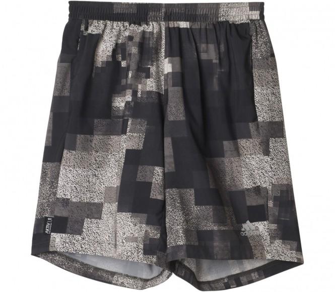 Adidas Aktiv Graphic Heren Hardloop korte broek (zwart-grijs) S