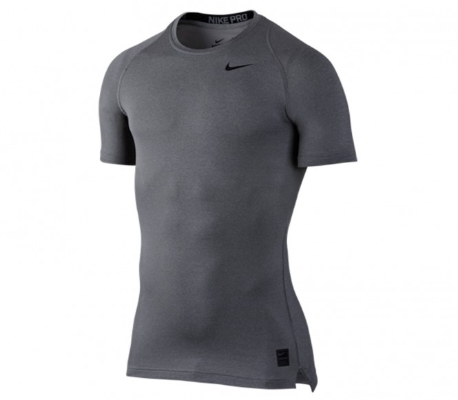 Nike Performance PRO COMBAT COOL COMPRESSION Hemd carbon heather/black