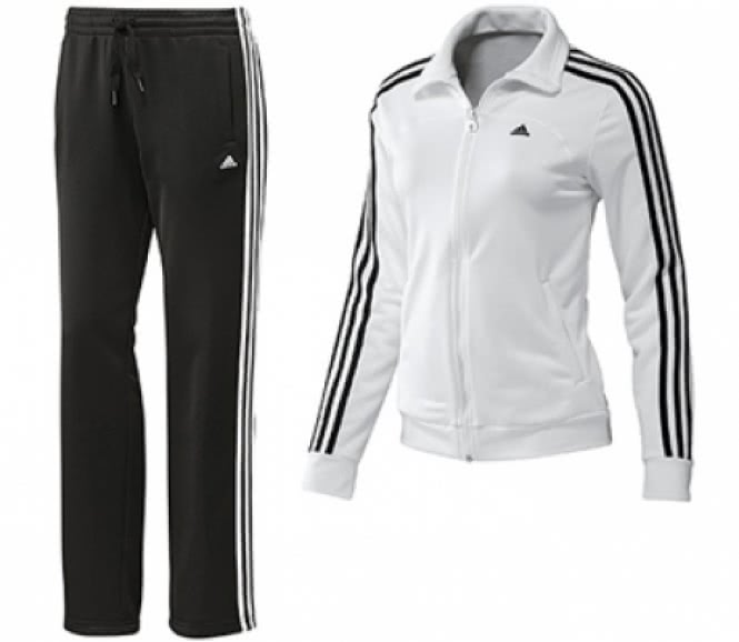 adidas damen essentials 3 stripes trainingsanzug hw12 default. Black Bedroom Furniture Sets. Home Design Ideas