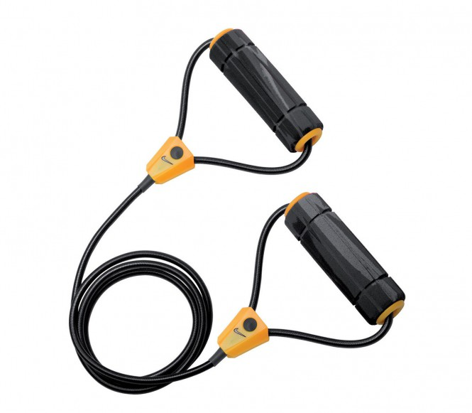 Nike Long Length Heavy Resistance 2.0 träningsband (grå/svart)