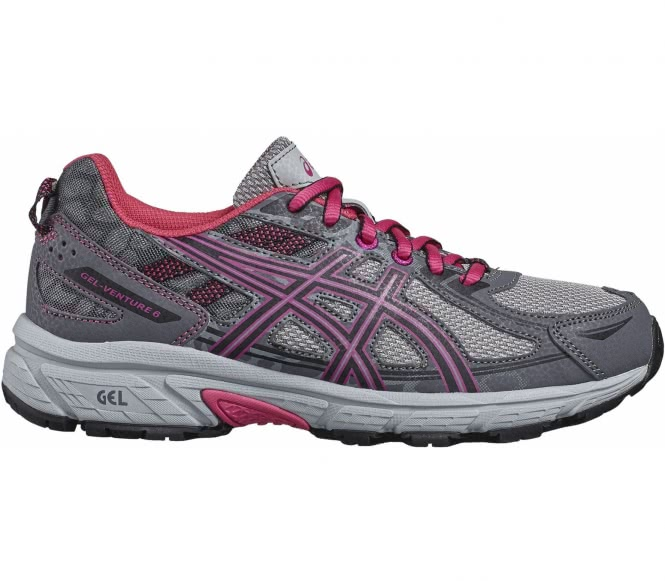 the latest 9db8d 86fa5 Asics Gel Venture 6 GS children s running shoes (grey black) EU 36 US 4  Apparel Accessories Shoes Athletic Shoes OPTIMAL DAMPING The heel has GEL  damping ...