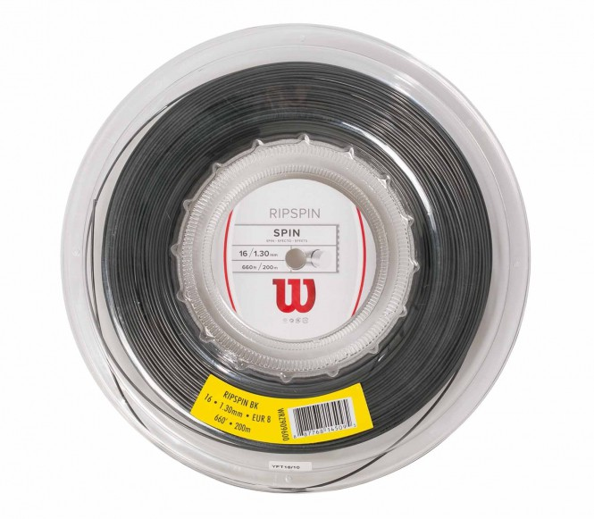cordages de tennis - WILSON RIPSPIN BLACK 200M 1,30MM
