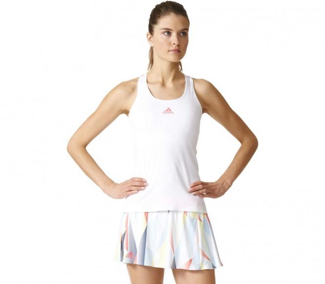 Adidas pro femmes réservoir de tennis blancrouge l