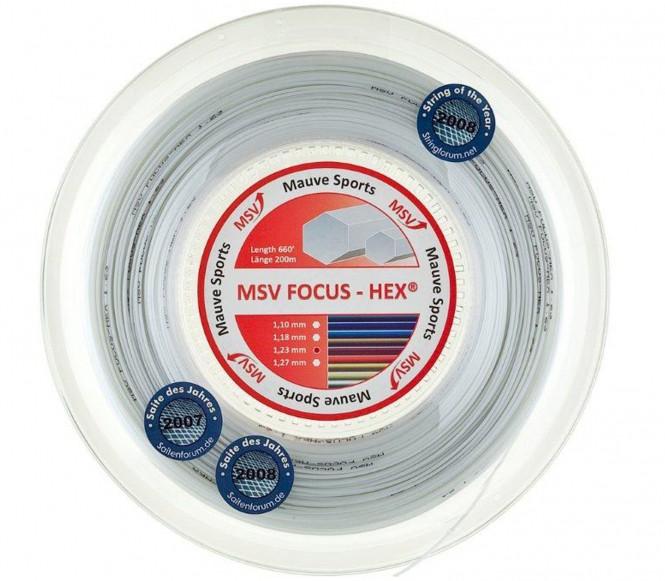 cordages de tennis - MSV FOCUS HEX 200M 1,27MM  BLANC
