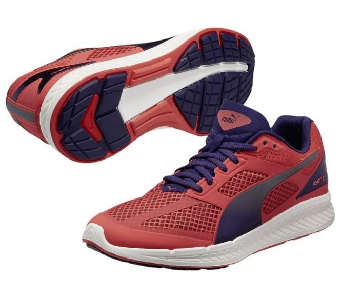 Puma - Ignite Mesh Kvinder løbesko (rød/lilla) - EU 38 - UK 5