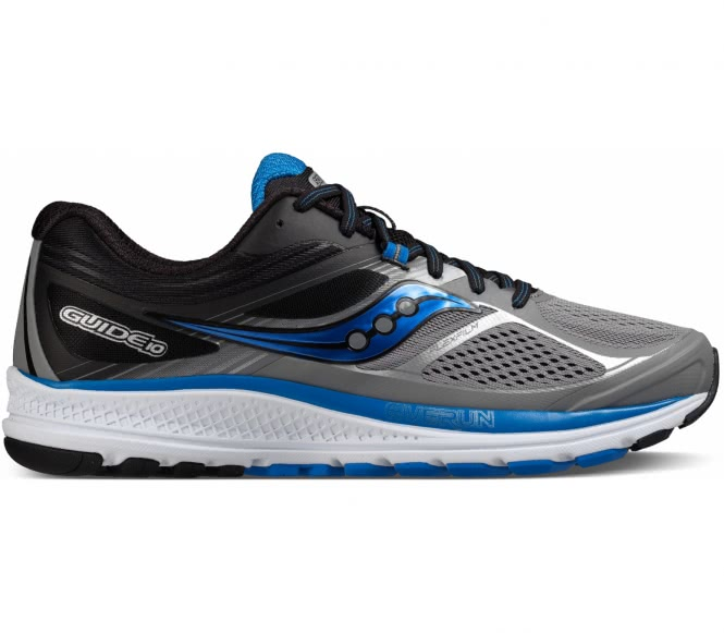 Saucony - Guide 10 Hommes chaussure de course (gris/noir) - EU 42,5 - US 9