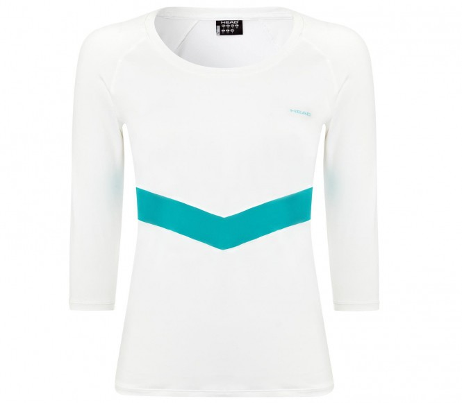 Head Leap Långärmad Dam Tennisshirt (vit) L