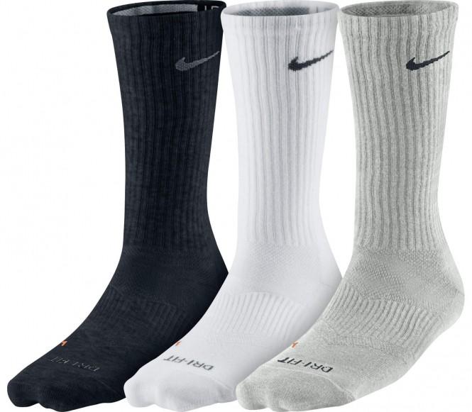 Nike Dri-Fit Lightweight Crew träningsstrumpor 3 styck (grå/vit/svart) M (EU 39 42) M (EU 39 42)