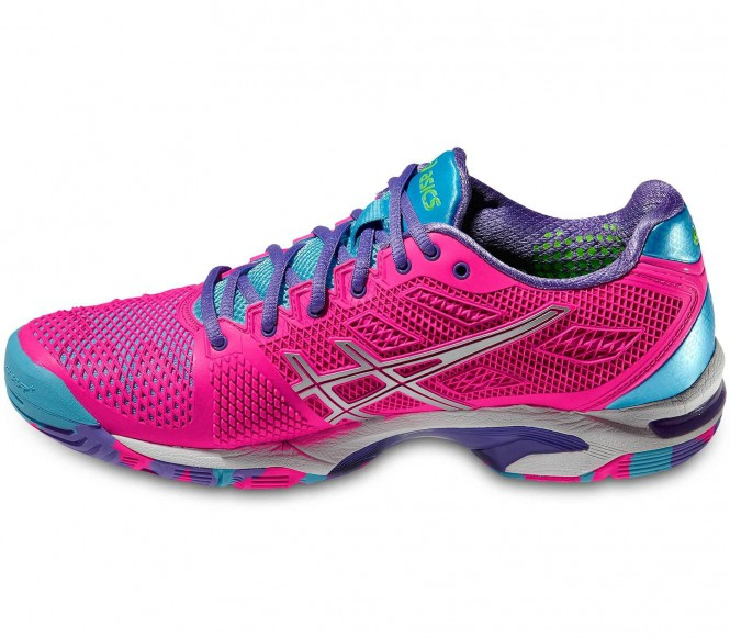 asics gel solution speed 2 damen tennisschuh pink silber tennis tennisschuhe damen. Black Bedroom Furniture Sets. Home Design Ideas