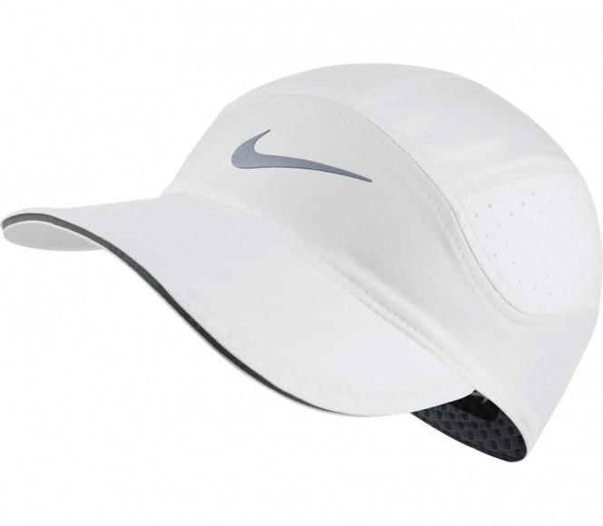 Nike - AeroBill Unisex Laufcap (weiß)