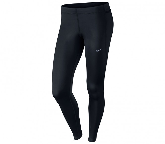Nike Performance RUNNING TECH Tights black/reflective silver