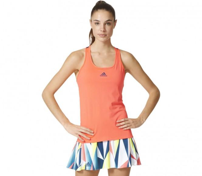 Artikel klicken und genauer betrachten! - Adidas - Pro Damen Tennistank (rot/dunkelblau) - M | im Online Shop kaufen