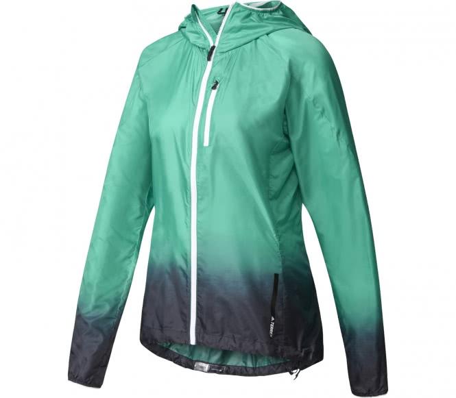 Adidas agravic veste coupe vent pour femmes vert m allure et forme - Veste coupe vent adidas femme ...