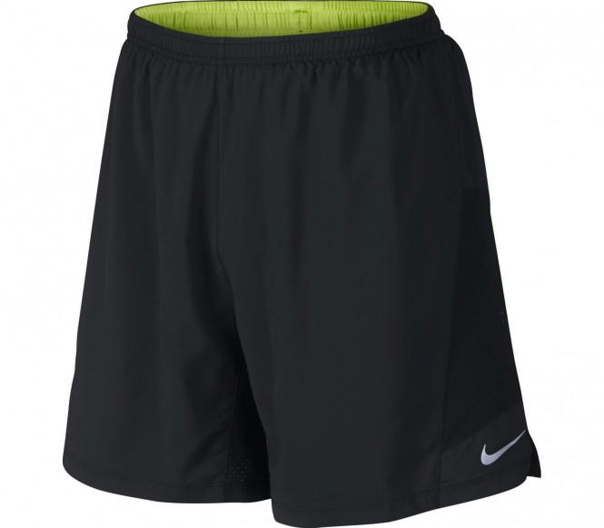Nike Performance PURSUIT 2IN1 Korte broeken black/volt/reflective silver