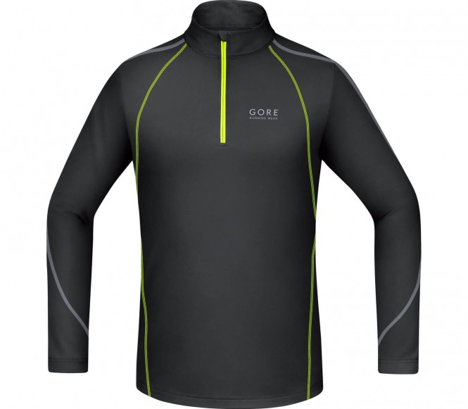 Gore Running Wear ESSENTIAL Longsleeve black/neon yellow