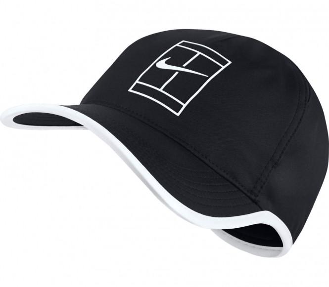 Court AeroBill Featherlight Tenniscap (schwarz/weiß)