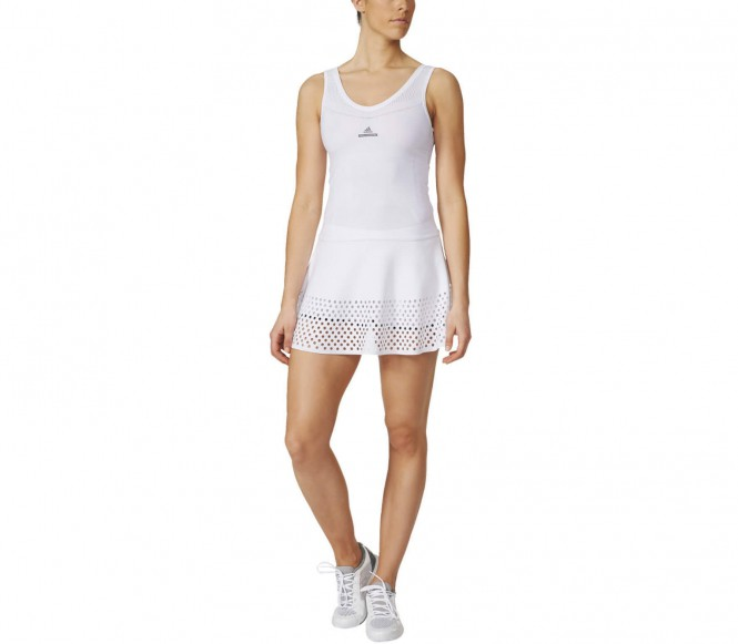 Adidas Stella McCartney Barricade Dames Tennis jurk (wit-grijs) S (36)