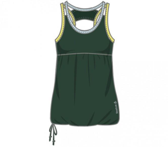 Reebok Dance Drawcord Damen Trainingstank (grön) M