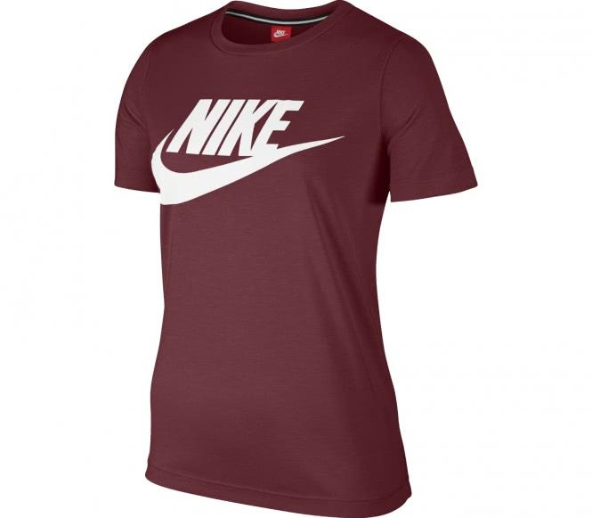 Nike - Essential Hybrid Damen T-Shirt (rot/weiß) - L