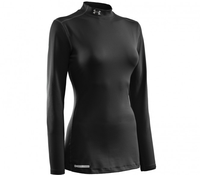 Under Armour Coldgear Fitted Mock LS Black Women - L