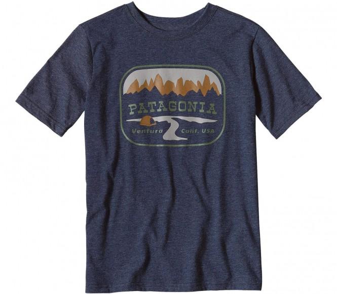 <strong>Patagonia</strong> pointed west t shirt fonctionnel pour enfants bleu foncé 132 136 s