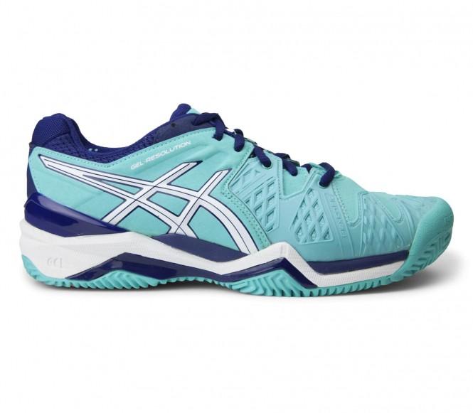 Asics - Gel-Resolution 6 Clay Femmes Chaussure de tennis (tüturquoise/bleu) - EU 40 - US 8,5