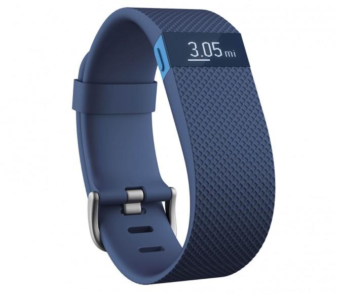 Fitbit - Charge HR Stor löpararmbandsklocka (blå)