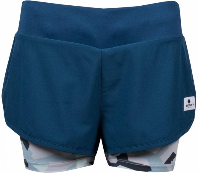 Saysky - 2 in 1 Shorts Damen Laufshort (camo) - L