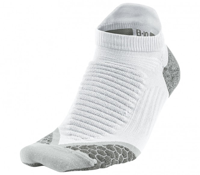 Nike Elite Running Cushioned NoShow löparstrumpor (vit/grå) XL (EU 47 50) XL (EU 47 50)