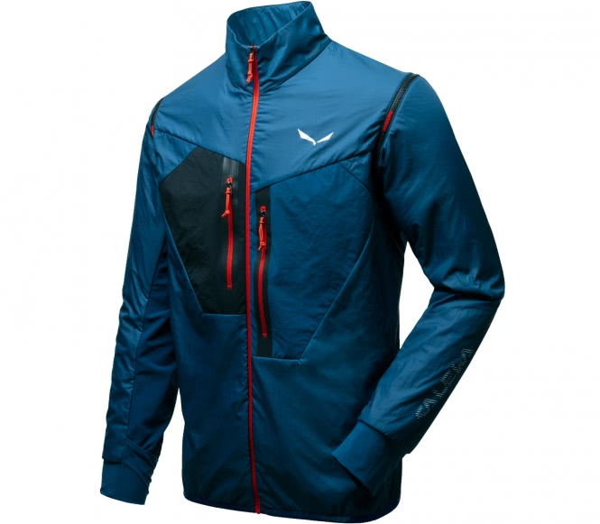 san francisco ec119 8a32c Salewa Pedroc Alpha 2 1 men s hybrid jacket (dark blue red) L Apparel  Accessories Clothing LIGHT AND HIGHLY BREATHABLE A highly breathable and  wat LIGHT AND ...