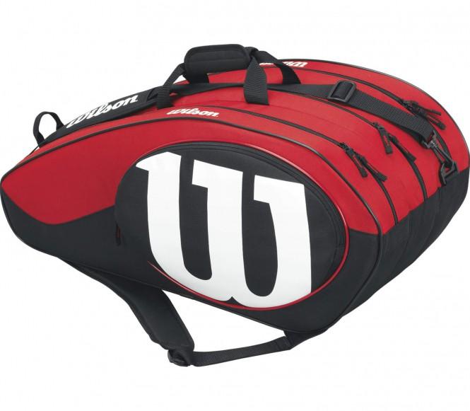 Match II 12 Pack Tennistasche (schwarz/rot)