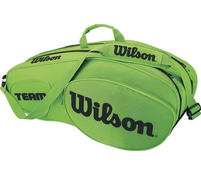 Team III 6 Pack Tennistasche (grün/schwarz)