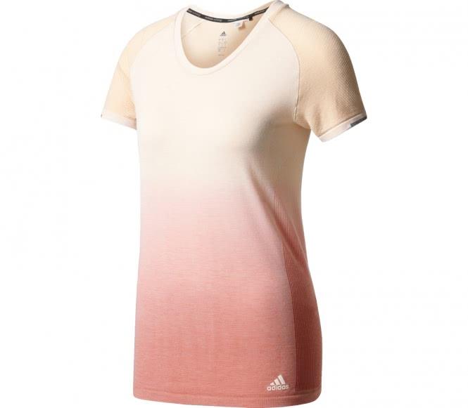 Primeknit Wool Damen Laufshirt (weiß/koralle) - L