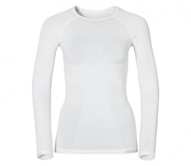Odlo Ladies Shirt LS Crew Neck Evolution Warm White (S)