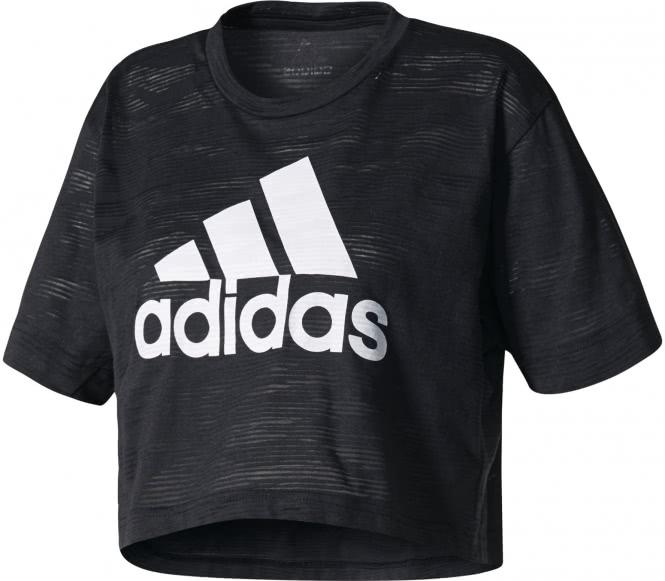 Adidas - Aeroknit Crop Damen T-Shirt (schwarz) ...