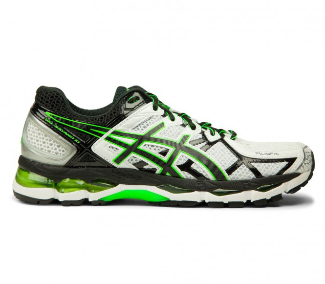 Asics Gel Kayano 21 löparskor för män (vit/svart) EU 445 US 105