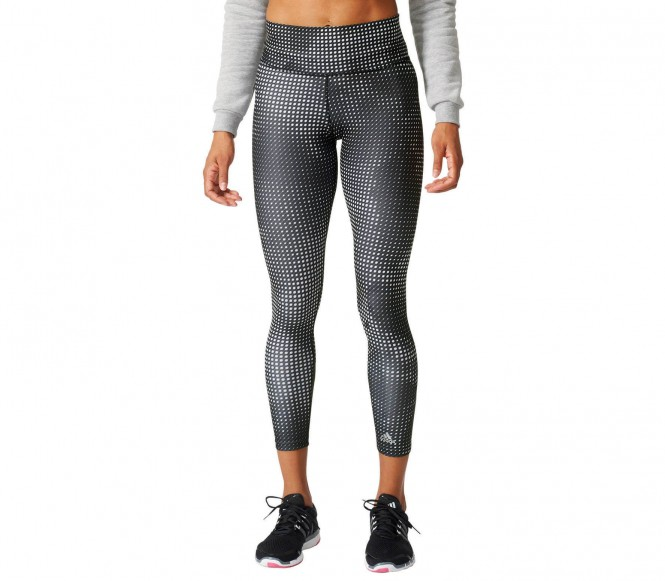 Adidas Tight Long Printed Damen Trainingshose L zwart