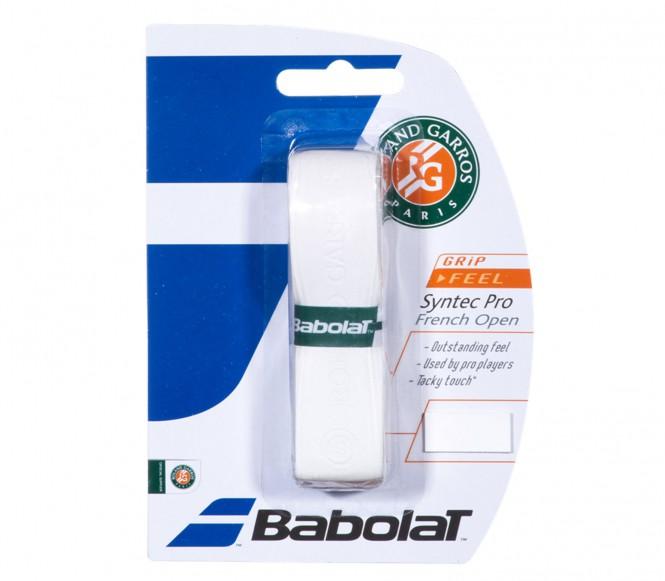Balles de tennis accessoires - BABOLAT SYNTEC PRO ROLAND GARROS  BLANC