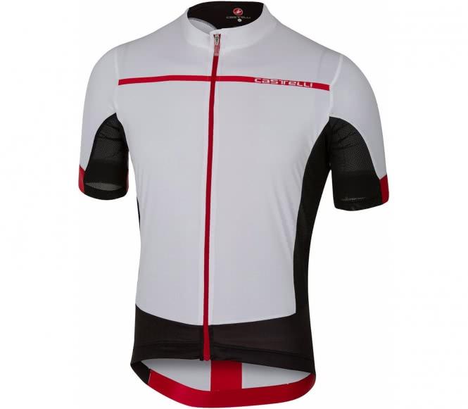 Castelli - Forza Pro jersey Hombre Jersey de bici (blanco/rojo) - L