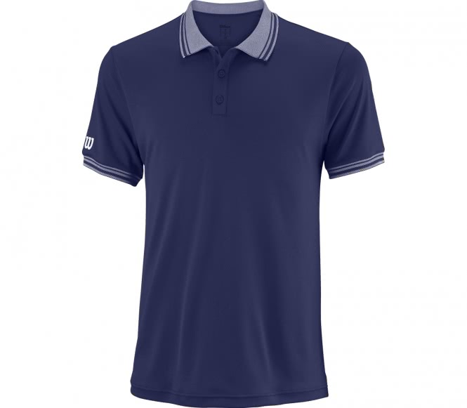 Wilson - Team Herren Tennispolo (blau) - XXL